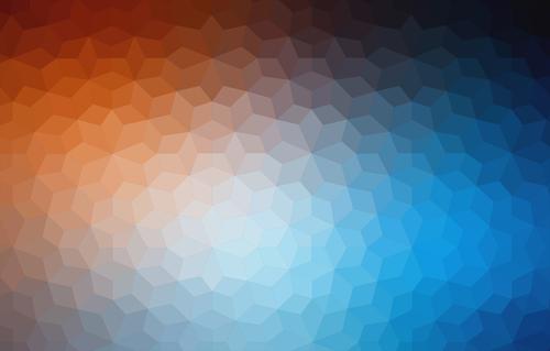 Orange blue rhombus abstract background vector