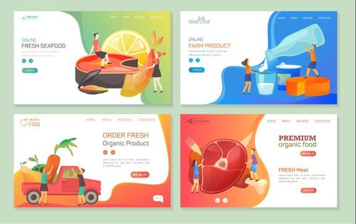 Order fresh organic product cartoon illustration vector