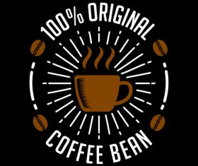 Original coffee badges logo vector