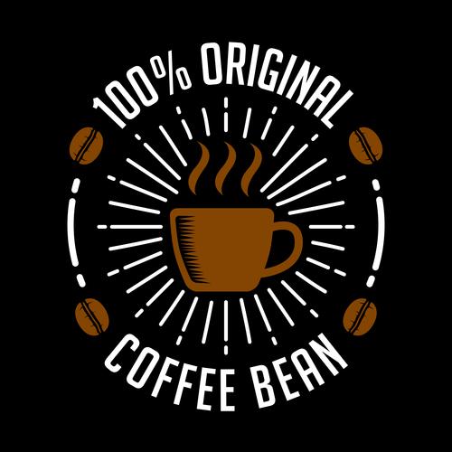 Original coffee badges logo vector