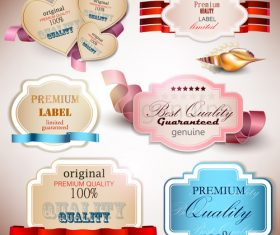 Original premium label sticker vector