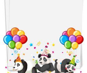 Panda party vector