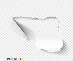 Paper Hole background vector