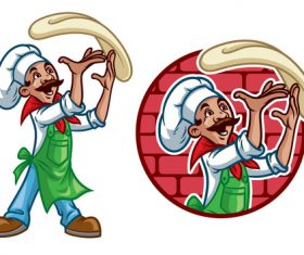 Pastry chef vector