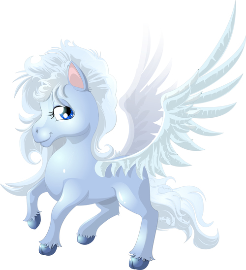 Pegasus cartoon vector
