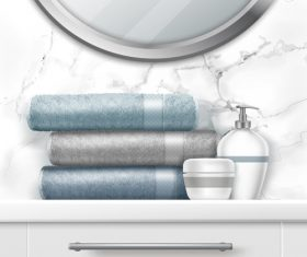 Personal care accessories vector