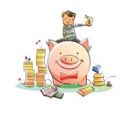 Piggy piggy bank concept illustration vector