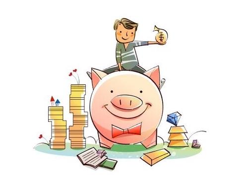 Piggy piggy bank concept illustration vector
