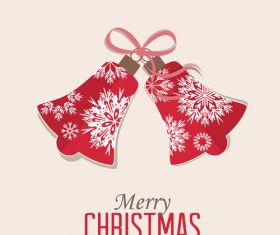 Pink christmas bell vector
