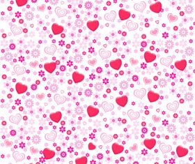 Pink heart seamless background pattern vector