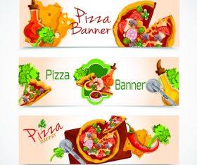 Pizza banner vector