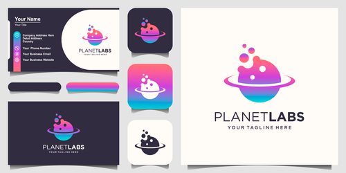 Planetlabs business card logo vector