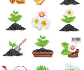 Planting plants vector