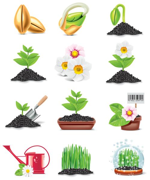 Planting plants vector