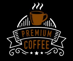 Premium coffee badges logo vector
