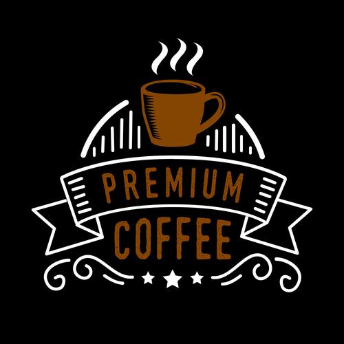 Premium coffee badges logo vector