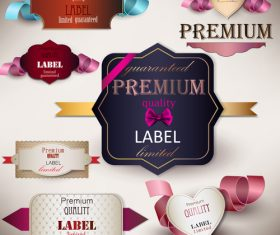 Premium quality label sticker vector