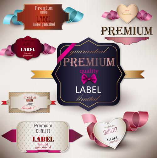 Premium quality label sticker vector
