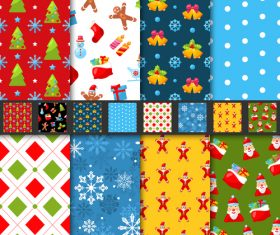 Pretty andseamless christmas patterns vector