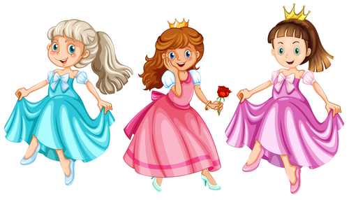 Pretty little princess cartoon vector