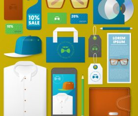Product business template with logo design vector