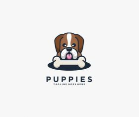 Puppies logos vector