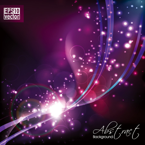 Purple shiny light abstract background vector
