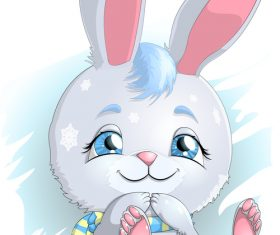 Rabbit in the snow vector