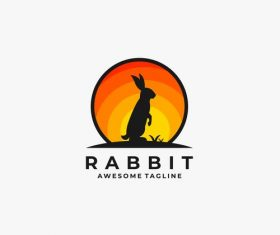 Rabbit logos vector