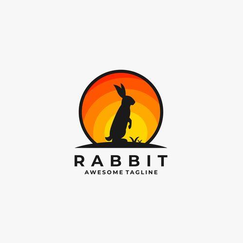 Rabbit logos vector
