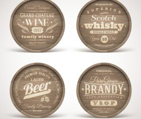 Retro wooden labels vector