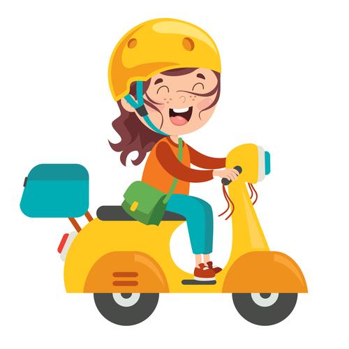 Riding an electric car cartoon character vector