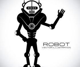 Robot background illustration vector