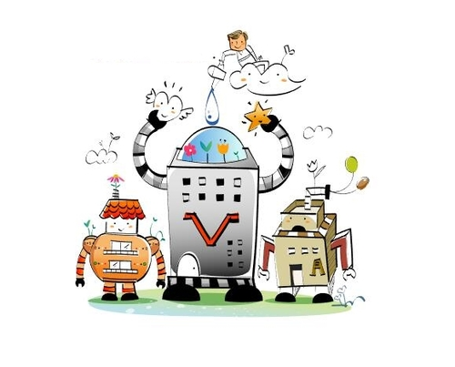 Robot concept illustration vector