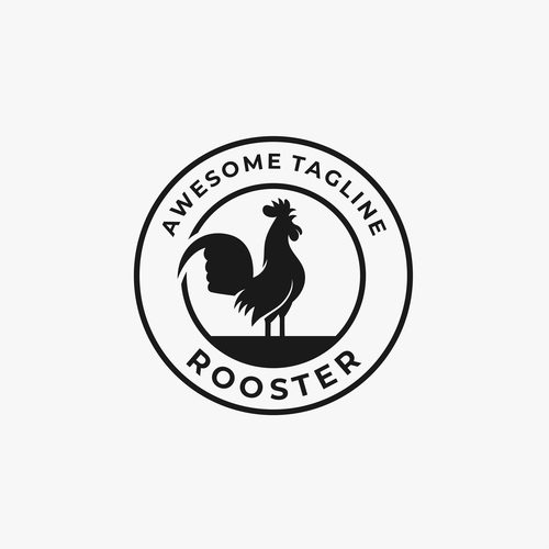 Rooster logos vector
