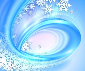 Rotating wind and snowflake background vector