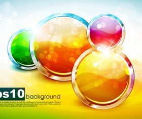 Round colorful button icon vector