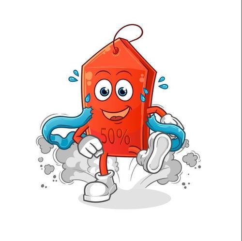 Sales first cartoon mascot vector