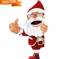 Santa Claus cartoon icon vector hiding behind white cardboard