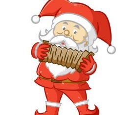Santa Claus vector playing the accordion