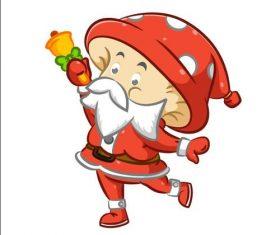 Santa Claus vector ringing a bell