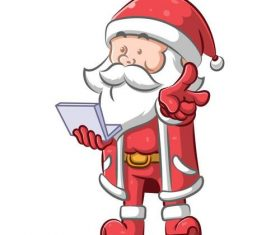 Santa Claus vector using electronic device