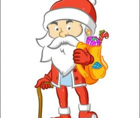 Santa Claus vector with a cane