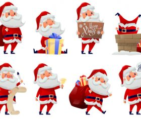 Santa cartoon illustration vector