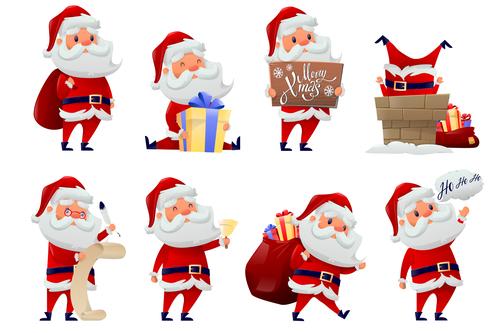 Santa cartoon illustration vector