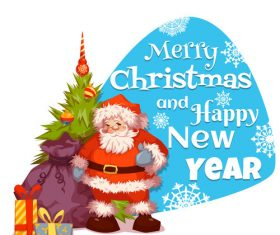 Santa claus background greeting card vector