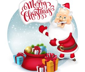 Santa claus new year greeting vector