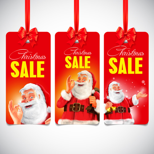 Santa cover label vector