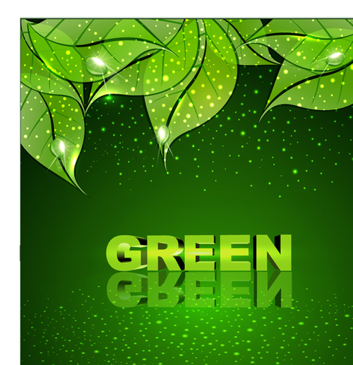 Seductive green leaf background vector