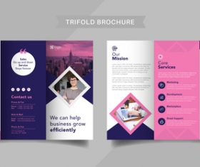 Service management trifold brochure vector